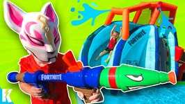 Nerf Super Soaker Obby 2.0 And Fortnite Gear Test