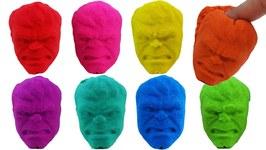 Hulk Kinetic Sand VS Kinetic Sand Spiderman Superheros Rainbow Learning Colors For Kids