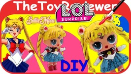 Sailormoon Custom L.O.L. Surprise Doll DIY LOL Paint Tutorial Unboxing Toy Review