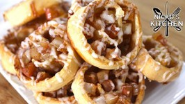 Apple Pie Pinwheel Cookies With Vanilla Glaze