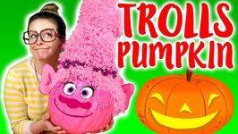 Trolls Princess Poppy Pumpkin DIY For Halloween 2017 - Arts And Crafts With Crafty Carol
