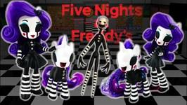Custom FNAF Puppet Marionette Rarity Pony - Five Nights At Freddys DIY Toy Tutorial