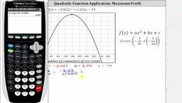 Quadratic Function App - Find Profit From Price-Demand And Cost - Vertex