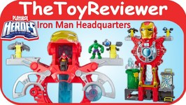 Playskool Heroes Iron Man Headquarters Marvel Super Hero HQ Unboxing Toy Review