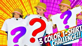 3 COLOR TIE DYE Challenge! Kids Play Mystery Color Challenge Game!