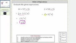 Order Of Operations - Simplify 60/5(7-5) And 2 5(8-5)