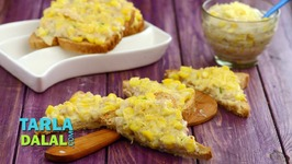 Baked Corn Open Toast