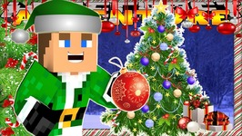 Minecraft Christmas - Little Donny - CHRISTMAS TREE & GINGERBREAD HOUSE DECORATING