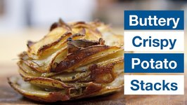 Creamy Buttery Potato Stacks With Crispy Edges