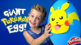 Pokemon Giant Play-Doh Surprise Egg With Ash And Pikachu Arena Unboxing And Toysreview