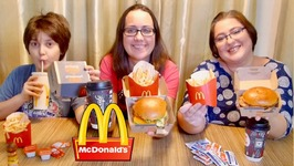 McDonalds Maple And Cheddar With Crispy Chicken -Gay Family Mukbang - Eating Show