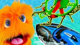 Bug VS Boat - Mini Drone Race For Kids RC Racing Adventures - Sports Boat VS Bugbot Nano Drone