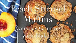 Breakfast Recipe-Peach Streusel Muffins