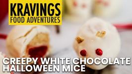 Creepy White Chocolate Halloween Mice