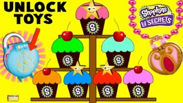 CUPCAKE SURPRISE GAME and SHOPKINS Lil SECRETS Secret Lockets - Blind Bags