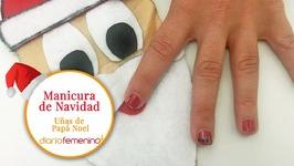 Cómo hacer unas divertidas uñas de Papá Noel - Diseño de uñas para Navidad