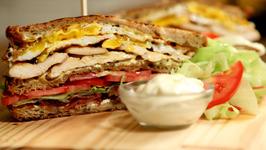 Ultimate Club Sandwich -BLT Sandwich Recipe- The Bombay Chef - Varun Inamdar