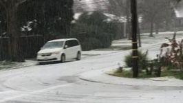 Hail Falls Like Snow Across Sacramento