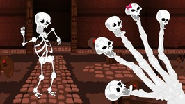 Crazy Skeleton Finger Family Dancing to Fun Beats For Kids - Crazy Skeleton Songs Collection