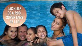 Las hijas de A-Rod son fans de Jennifer Lopez