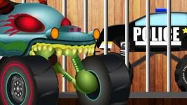 Haunted House Monster Truck Vs Super Squad - Car Cartoons for Children - Kids Channel