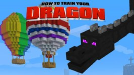 Minecraft - HOW TO TRAIN YOUR DRAGON - Air Baloons! 29