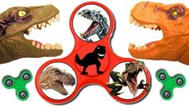 Dinosaurs Fidget Spinner Game W/ Surprise Dinosaur Eggs Toy Dinosaurs T-Rex Kids Games Videos