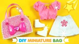 DIY Miniature Barbie Doll Gym - School Bag