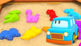 Clever Cars Cartoon- Learn Numbers for Babies with Dinosaurs - Car Cartoons for Toddlers
