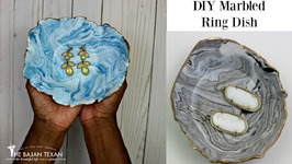 DIY Marbled Ring Dish by Home Made Luxe