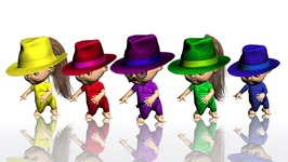 Funny Ooga Chaka Baby wears Magical Hats and Changes Colors - Crazy 3D Animation Finger Family Rhyme