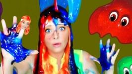 Finger Family Halloween Song- Scary Nursery Rhymes- Slime Monster Song for Kids
