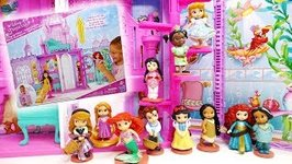 Disney Princess Pop-Up Palace and Deluxe Figurine Doll Set Animators' Collection