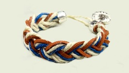 DIY Nautical Rope Braided Bracelet