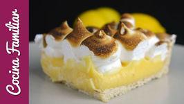 Tarta de limón con merengue,lemon pay - Postres caseros fáciles