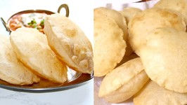 How To Make Instant Bhature For Chole - Puffed Puris