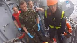 Irish Navy Sailor Thanks Spanish Rescuers For Airlifting Him to Safety