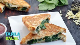 Spinach Garlic And Cheese Tava Sandwich