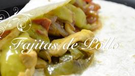 Receta De Fajitas De Pollo /  Recetas De Cocina Faciles Y Economicas / Recetas De Pollo Faciles