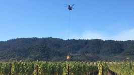 Firefighting Helicopters Pull Water from Oakville Winery