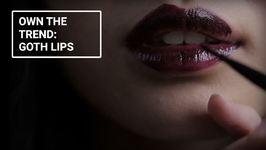 Winter Make-Up Looks: Goth Lips