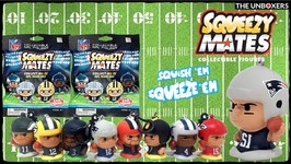 SqueezyMates Squishy Collectible NFL Figures