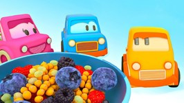 Learn Berries with Clever Cars- Car Cartoons for Babies and Kids Learning Videos