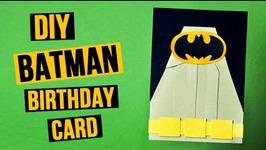 DIY Batman Birthday Card