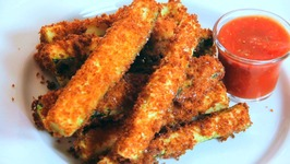 Fried Zucchini Sticks With Marinara Sauce