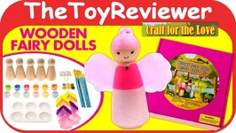 Craft for the Love Wooden Fairy Dolls Deluxe Craft Kit DIY Unboxing