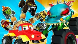 Monster Truck Dan - Finger Family Song - Car Cartoons by Kids Channel