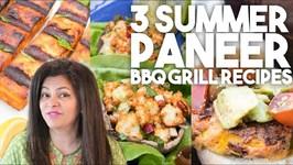 Summer Paneer BBQ Grill - Vegetarian Recipes