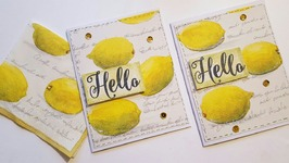 DIY NAPKIN CARDS  PAPER CRAFTING