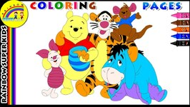 Winnie the Pooh Coloring Page for Kids - Learn Colors for Children with Winnie the Pooh